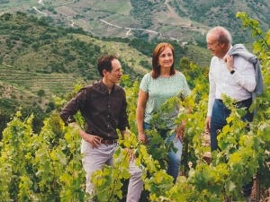 Torres family in their vineyard.