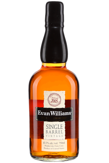 Evan Williams Single Barrel Vintage Kentucky Bourbon