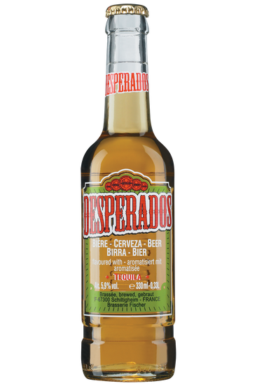 Desperados beer flavoured with tequila