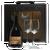 J.P. Chenet gift box 2 glasses and a bottle 750ml Merlot Cabernet