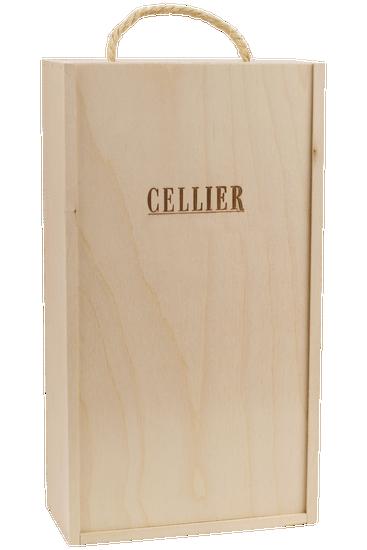 Coffret-cadeau en bois pour deux bouteilles