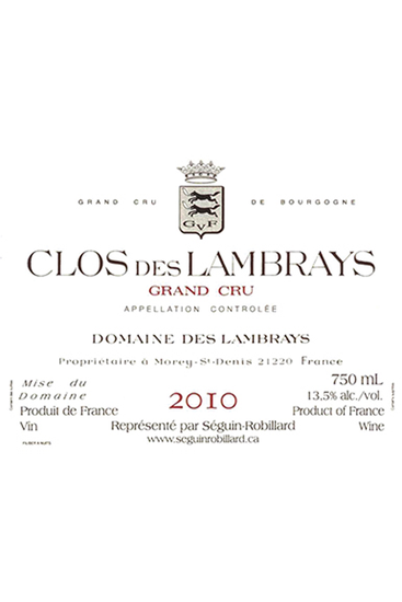 Domaine des Lambrays Clos des Lambrays Grand Cru