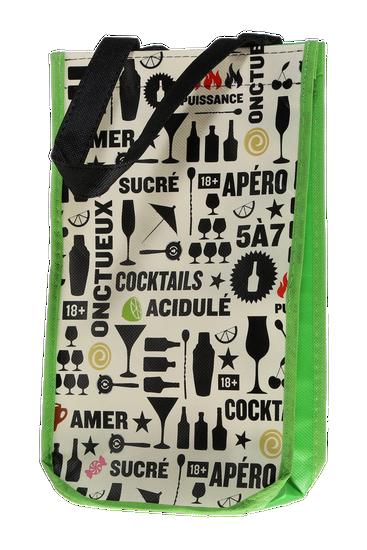 2-bottle polypropylene reusable cocktail bag