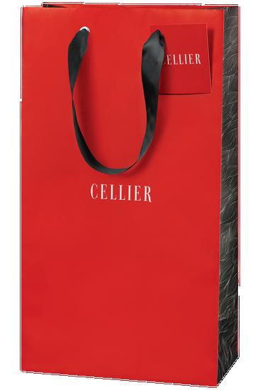 Sac-cadeau Cellier pour deux bouteilles - rouge