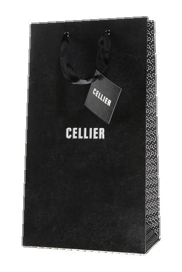 Cellier gift bag for two bottles - black