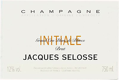 Jacques Selosse Initial Grand Cru Blanc de Blancs Brut