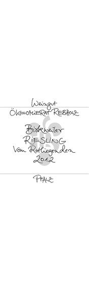 Weingut Ökonomierat Rebholz Birkweiler Vom Rotliegenden Riesling Trocken