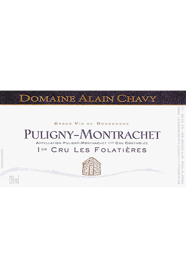 Domaine Alain Chavy Puligny-Montrachet Premier Cru Les Folatières