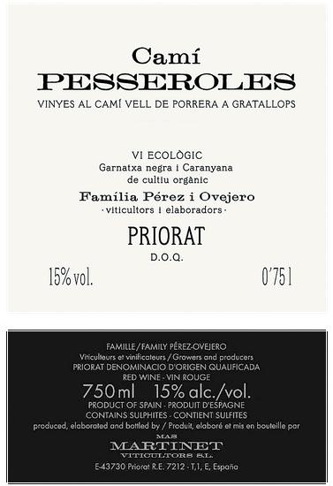 Mas Martinet Cami de Pesseroles Priorat