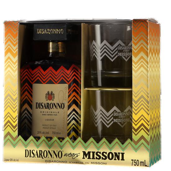 Disaronno Originale - Limited Edition Missoni + 2 glasses