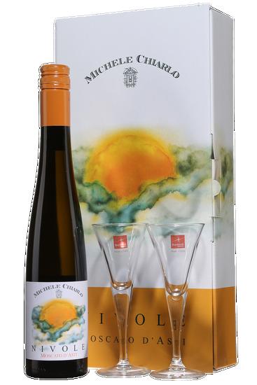Gift Pack Michele Chiarlo Nivole + 2 Glasses