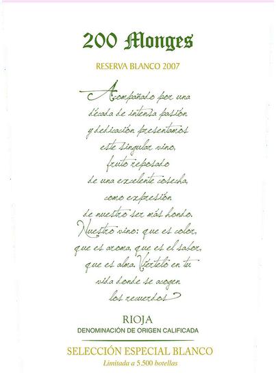 Bodegas Vinicola Real 200 Monges Seleccion Especial Reserva