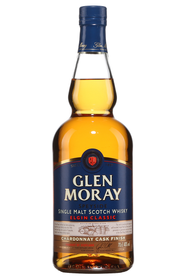 Glen Moray Classic Chardonnay Cask Finish Speyside Single Malt Scotch Whisky
