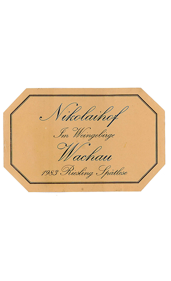 Nikolaihof Riesling Im Weingebrige Spätlese