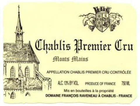 Domaine François Raveneau Chablis Premier Cru Montmains