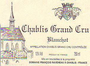 Domaine François Raveneau Chablis Grand Cru Blanchot
