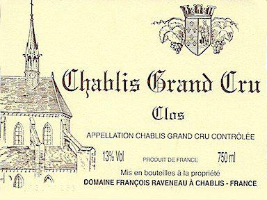 Domaine François Raveneau Chablis Grand Cru Les Clos