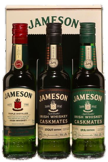 Jameson Irish Whiskey Family Wire Gift Pack (3 x 200 ml)