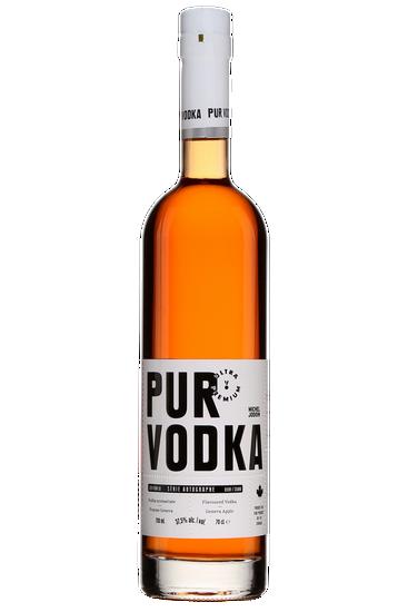 Pur Vodka Série Autographe Michel Jodoin Arômatisée Pomme Geneva