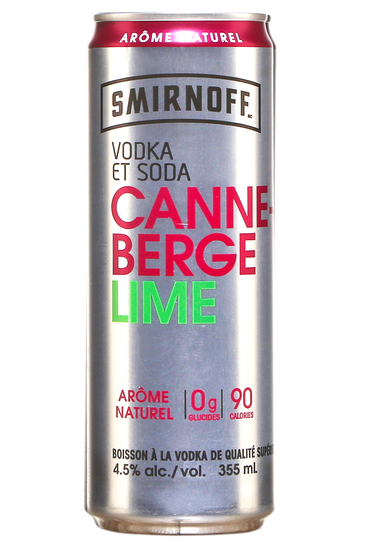 Smirnoff Vodka & Soda Cranberry Lime