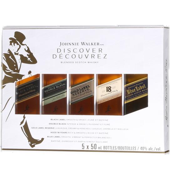Johnnie Walker Explorer Coffret Dégustation Scotch Whisky (5x50 ml)