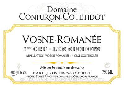 Domaine Confuron-Cotétidot Vosne-Romanée Premier Cru Les Suchots