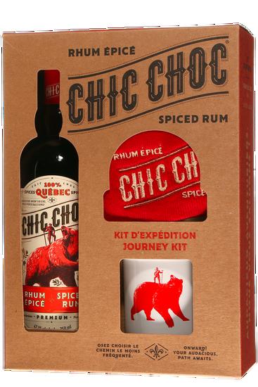 Coffret Cadeau Chic Choc Rhum  Épicé + 2 Tasses + Tuque