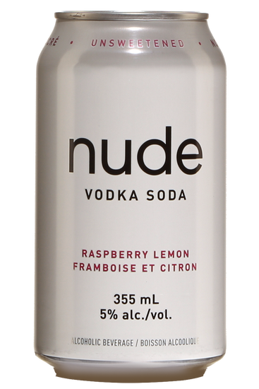 Nude Vodka Soda Framboise et Citron