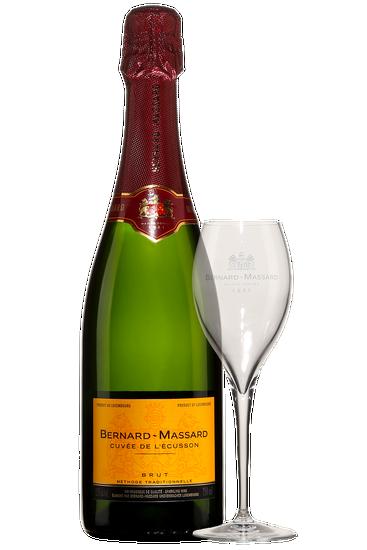 Coffret Cadeau Bernard Massard Cuvée de l'Écusson Brut + 2 verres