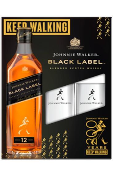 Johnnie Walker Black Label Coffret  + 2 Verres