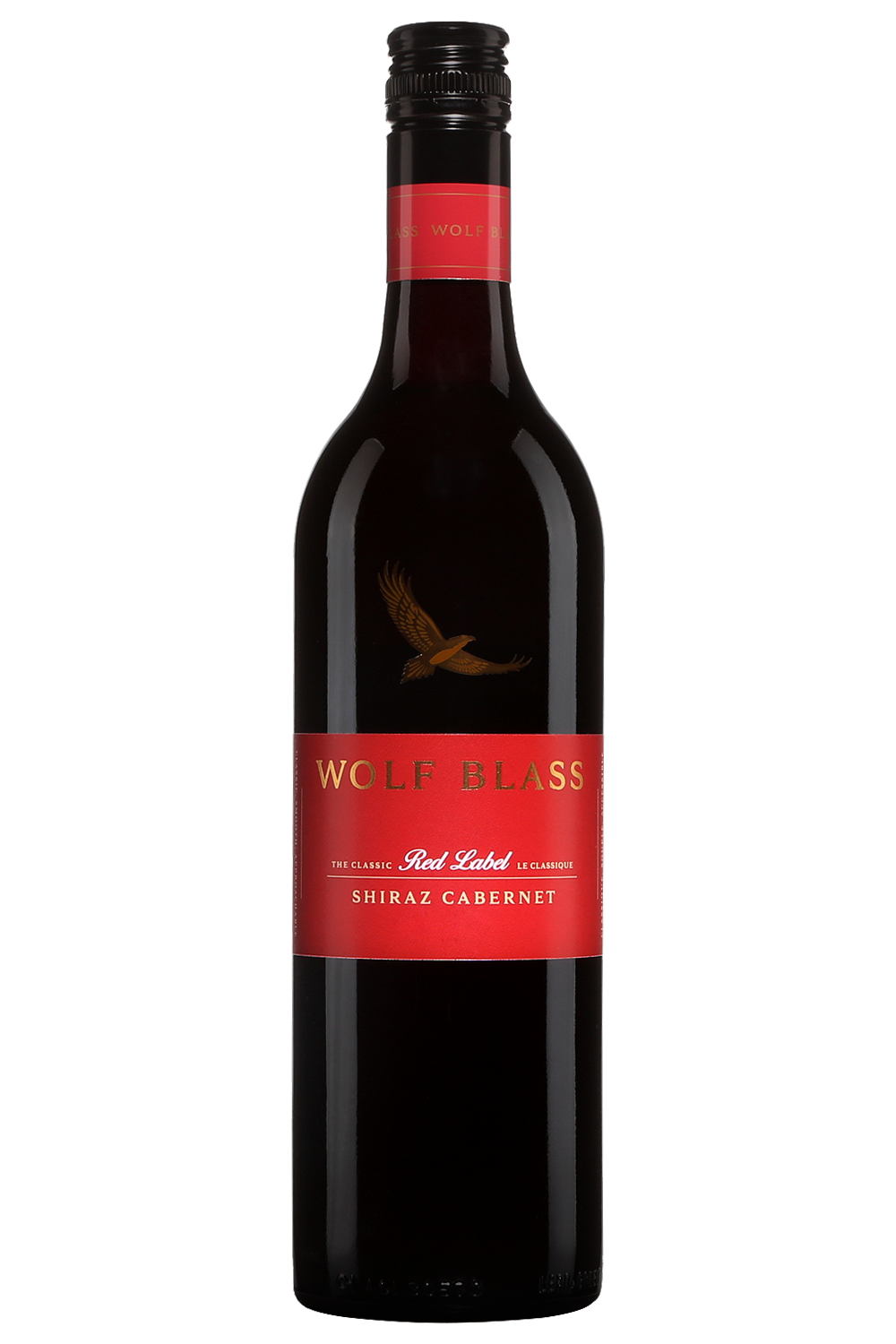 It's just a picture of Luscious Wolf Blass Red Label Shiraz 2020