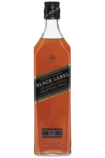 Johnnie Walker Black Label 12 Years Old Scotch Blended