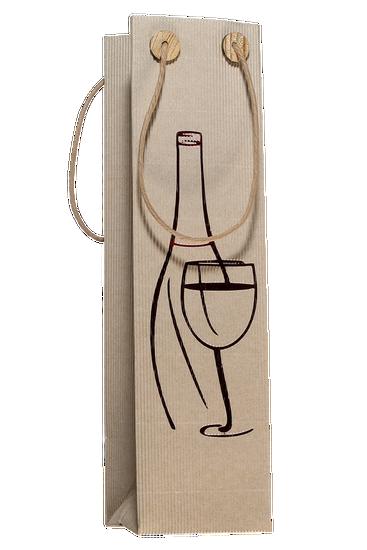 Gift bag for one bottle