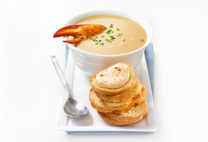 Lobster bisque with rouille and croutons Image