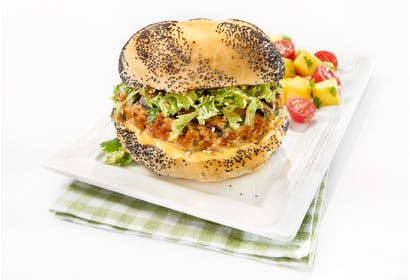 Asian spicy pork burgers Image