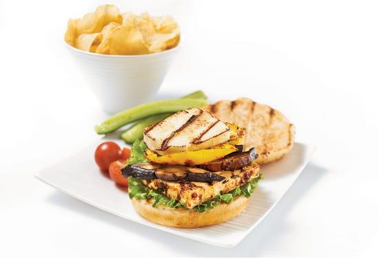 Halloumi cheese veggie burgers