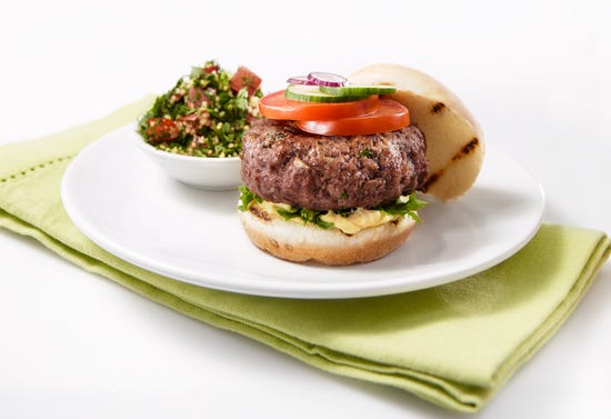 Middle Eastern-style burgers