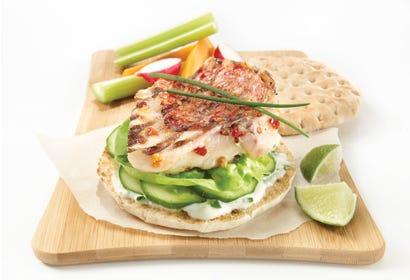 Burgers de poisson blanc à la lime Image