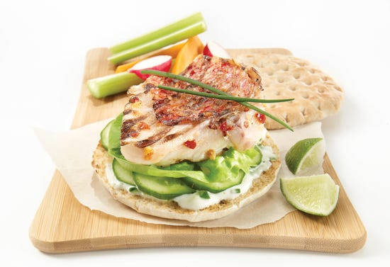 Fish burgers with lime