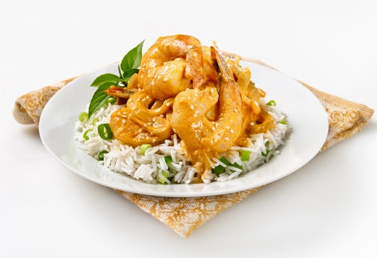 Shrimp curry with coconut milk