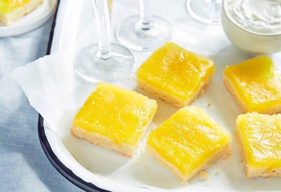 Carrés au citron et au limoncello