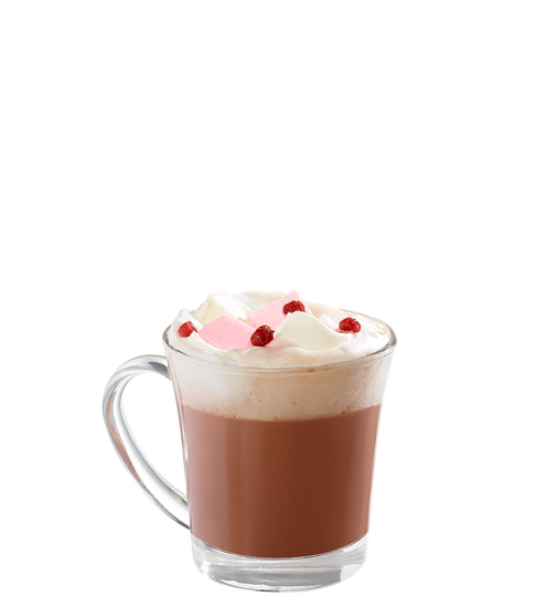 Chocolat chaud fraise d'hiver
