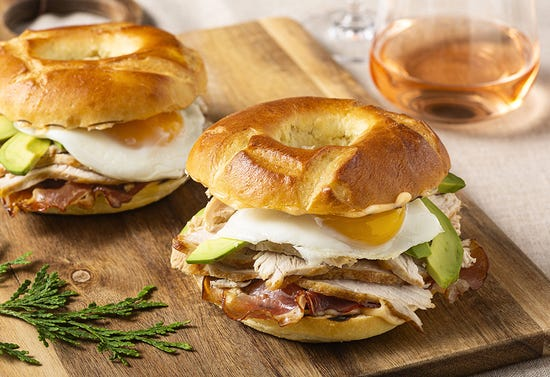 Turkey breakfast club sandwich