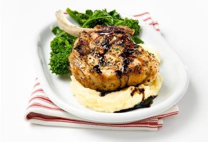 Côtelette de porc ail et balsamique Image