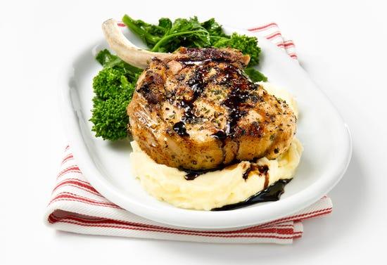 Garlic and balsamic pork chops
