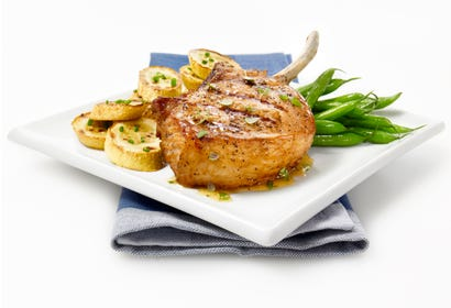 Barbecue pork chops with honey and thyme Image