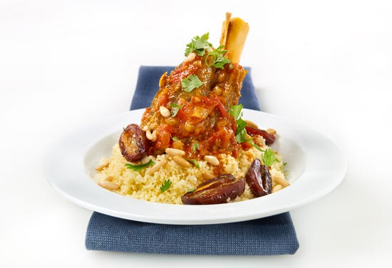 Couscous with braised lamb shanks