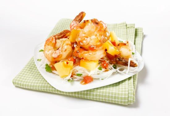 Crevettes en sauce aigre-douce