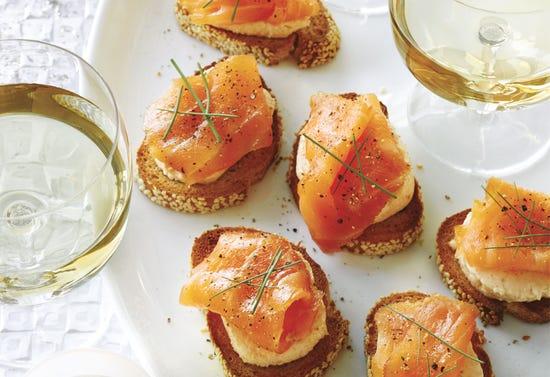 Crostinis à la crème de saumon