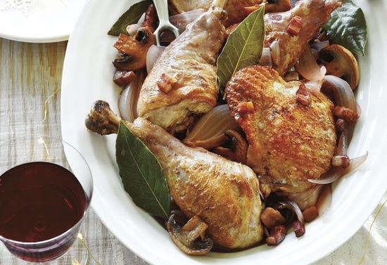 Red wine braised turkey
